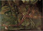 L'antica Piuro, da Prosto a S.Croce, in una tela del '600 conservata a Palazzo Vertemate